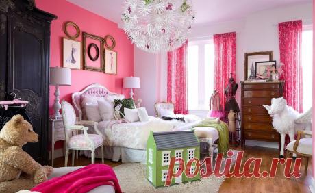 Какие шторы подойдут к розовым обоям