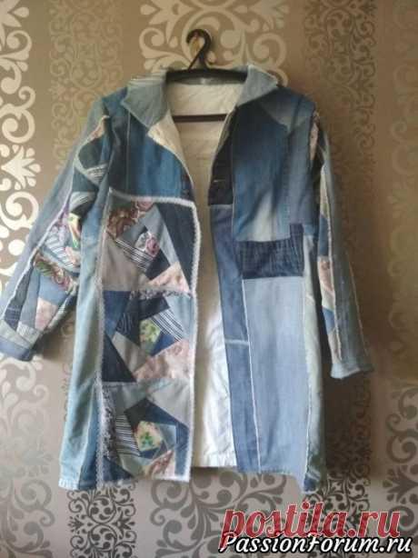 Делюсь своей идеей по применению старых джинс и плаща. - запись пользователя Елена (Елена) в сообществе Новая жизнь старых вещей в категории Для себя любимой