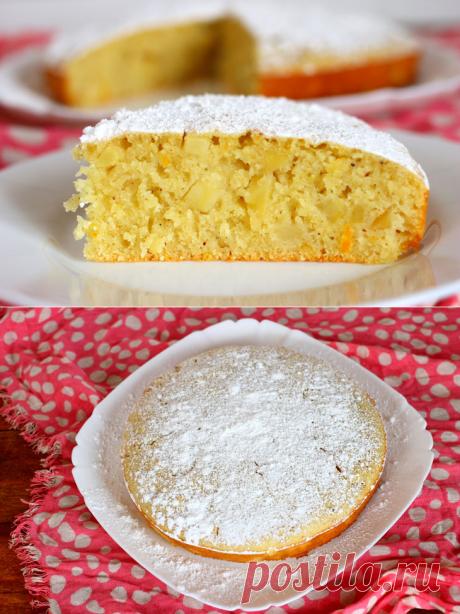 Апельсиновый манник на йогурте с яблоками — Sloosh – кулинарные рецепты