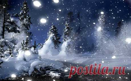 Зимние пейзажи природы под чудесную музыку...
