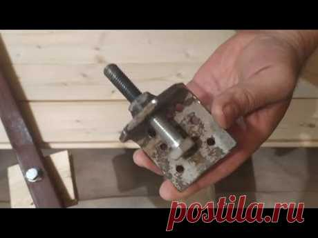 Приспособления для укладки ПОЛА из досок - клинья, стяжки, рычаги.