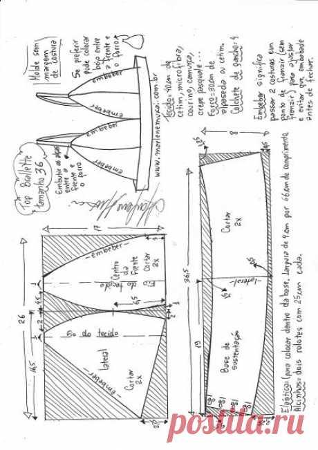 Top bralette para tecido plano – Marlene Mukai