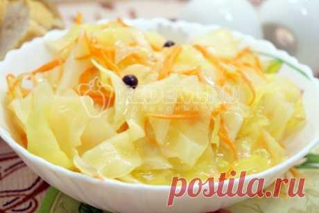Вкусная маринованная капуста быстрого приготовления Вкусная маринованная капуста быстрого приготовления, легко!