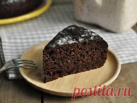 Шоколадный пирог на сметане в мультиварке - рецепт с фото пошагово