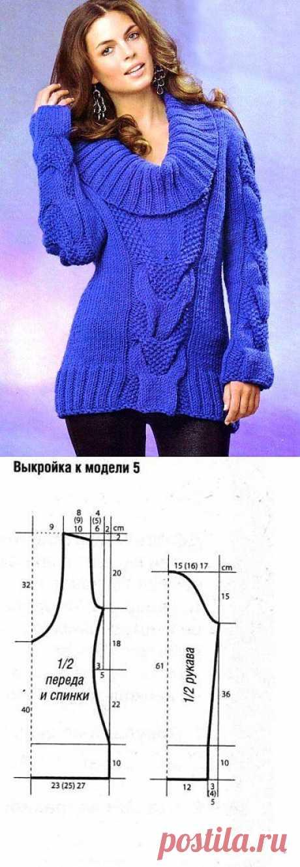 И в осенний день и в зимнюю стужу. Оригинальный вязаный пуловер в стиле 80-х..