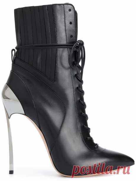 Casadei Techno Blade Lace-up Ankle Boots - Farfetch Shop Casadei Techno Blade lace-up ankle boots.