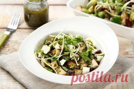 Салат с жареной курицей огурцом и сыром – пошаговый рецепт с фото.