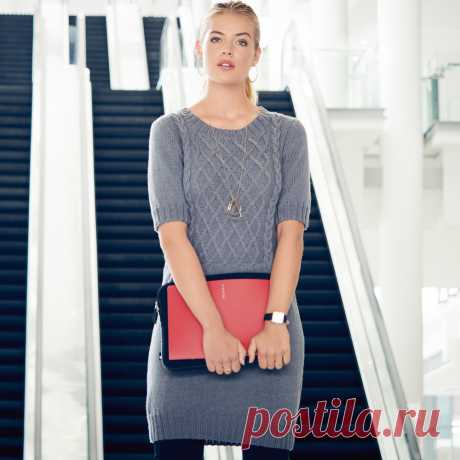 Серое облегающее мини-платье - Verena.ru