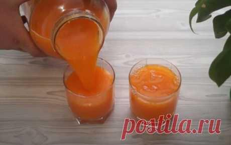 Вкуснейший и очень полезный тыквенный сок на зиму!  Тыква - 3 кг (вес очищенной тыквы) Можно 1,5 кг тыквы и 1,5 кг моркови, будет еще вкуснее. Сахар - 0,5 кг  Вода – 2 литра Лимонная кислота – 10 гр ( 2 чайной ложки)   Способ приготовления   Тыкву почистим порежем на кусочки.  В кастрюлю наливаем 2 литра холодной воды, кладем тыкву. Ставим на огонь варим до готовности, примерно 10 минут с момента закипания.  Теперь вместе с отваром пропускаем через соковыжималку ил...