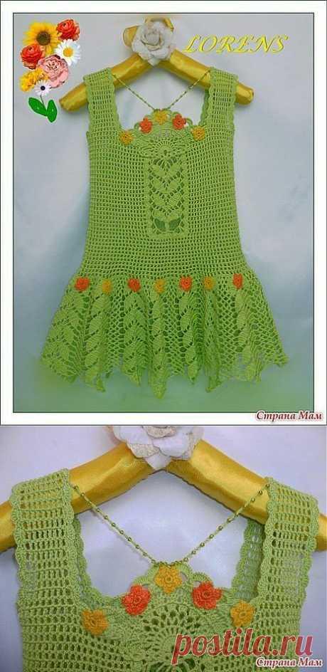 Вязание: летний детский сарафанчик.