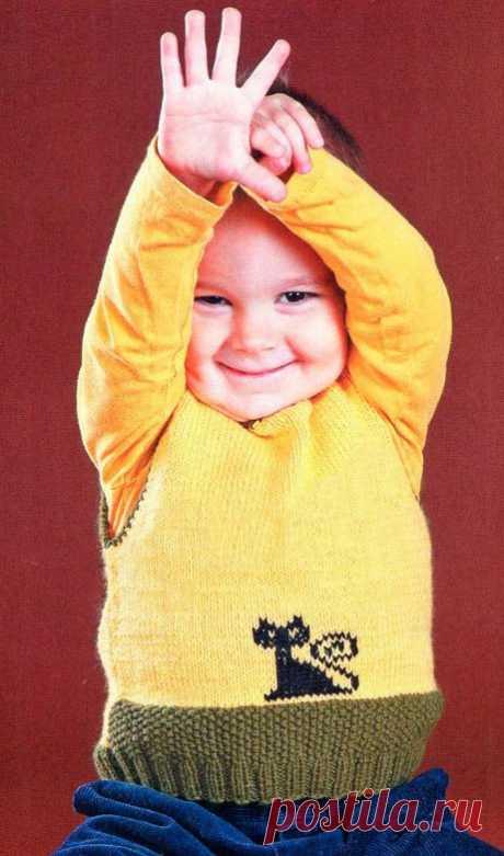 Вязание спицами для детей безрукавки: 25 моделей со схемами, описанием и видео мк для начинающих