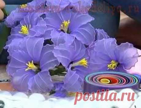 Видео мастер-класс по цветам из капрона: Цветок с волнистым краем