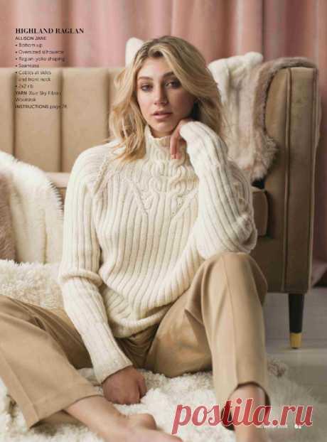 Белый свитер от Allison Jane из журнала «Knit.Wear» осень-зима 2018 — HandMade