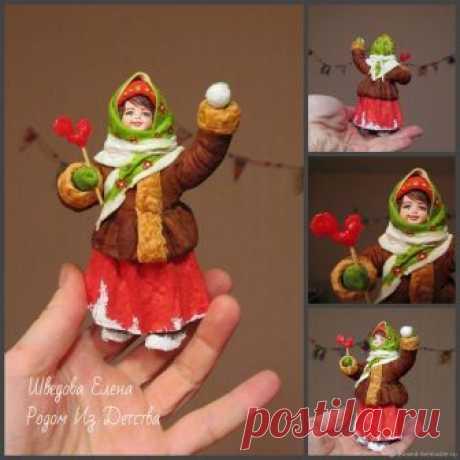 Грушенька с леденцом 2- ватная елочная игрушка – купить в интернет-магазине на Ярмарке Мастеров с доставкой - EJTDRRU | Москва