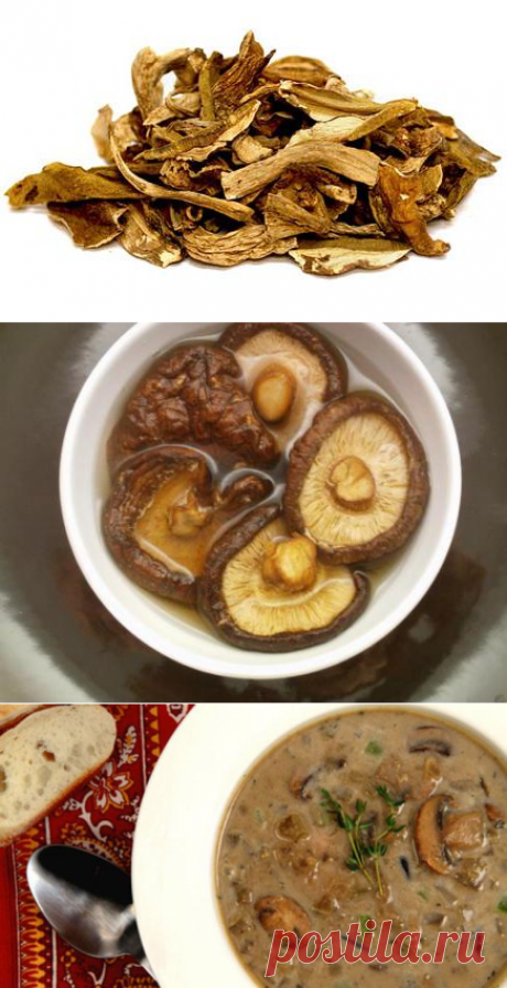 Как готовить сушеные грибы: несколько вариантов