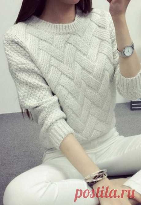 Красивый узор для пуловера