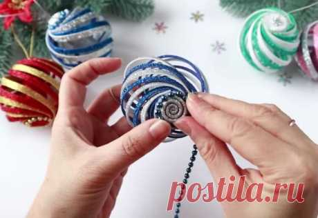 Быстрая новогодняя игрушка невероятной красоты   Конфитюр   Яндекс Дзен