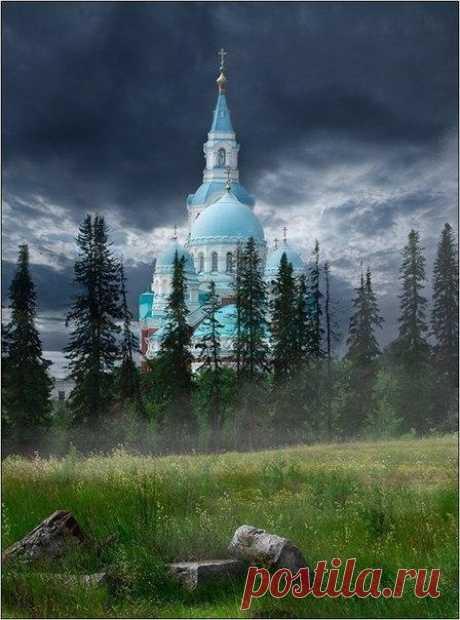 Спасо-Преображенский монастырь на острове Валаам, Карелия, Россия