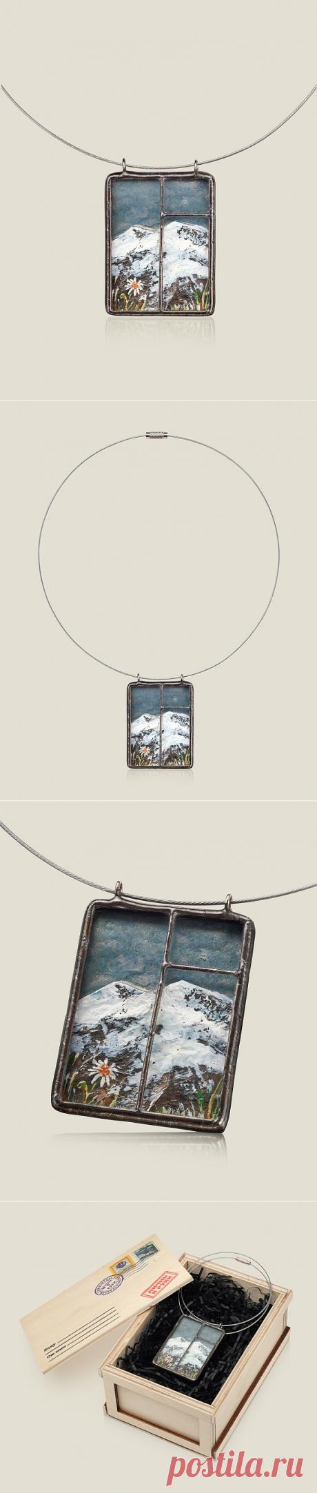 красивые украшения (Кулон) Окно с видом на Эльбрус 1900Р