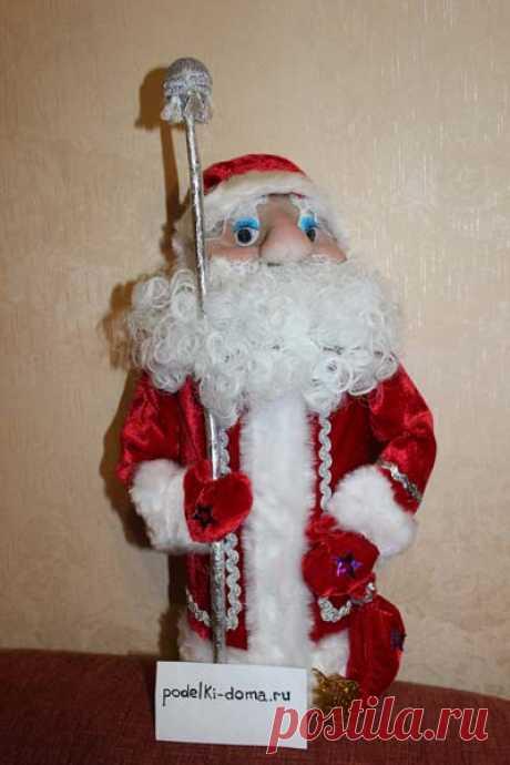 Кукла Дед Мороз из капрона (колготок), мастер-класс | podelki-doma.ru