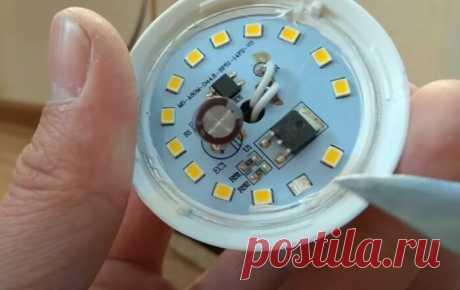 Как можно самому легко и быстро восстановить светодиодную лампочку
