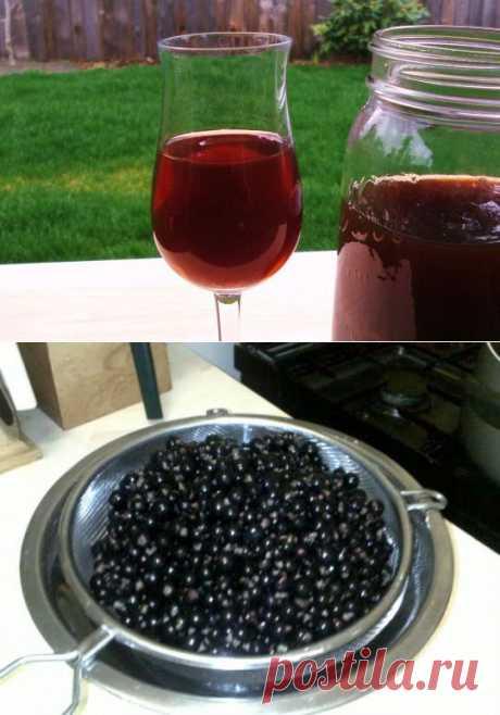 Рецепт Домашнее вино из черной смородины с  в домашних условиях