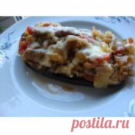 Лодочки из баклажанов с грибами Кулинарный рецепт