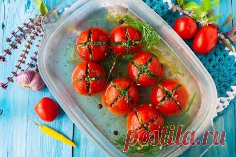 Малосольные помидоры с чесноком и зеленью - ИНТЕРЕСНО - интернет журнал