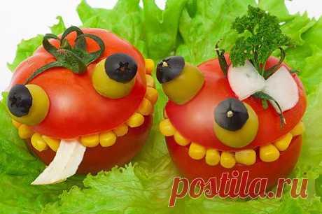 Украшение детских блюд, как оформить блюдо для детей.