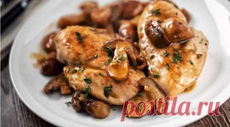 Дюжина рецептов курицы с грибами для духовки и сковороды