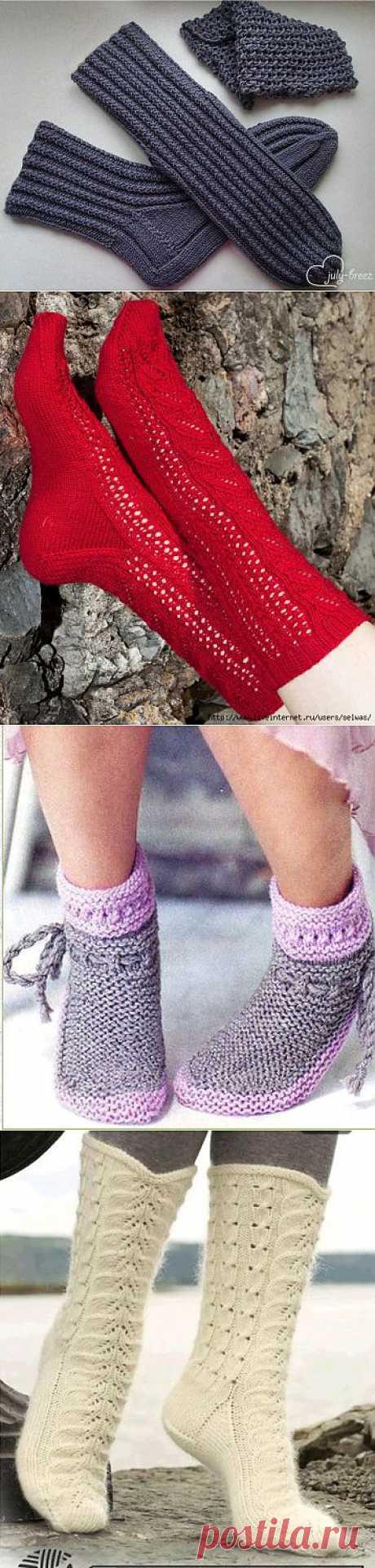 Носки вязаные ,подборка