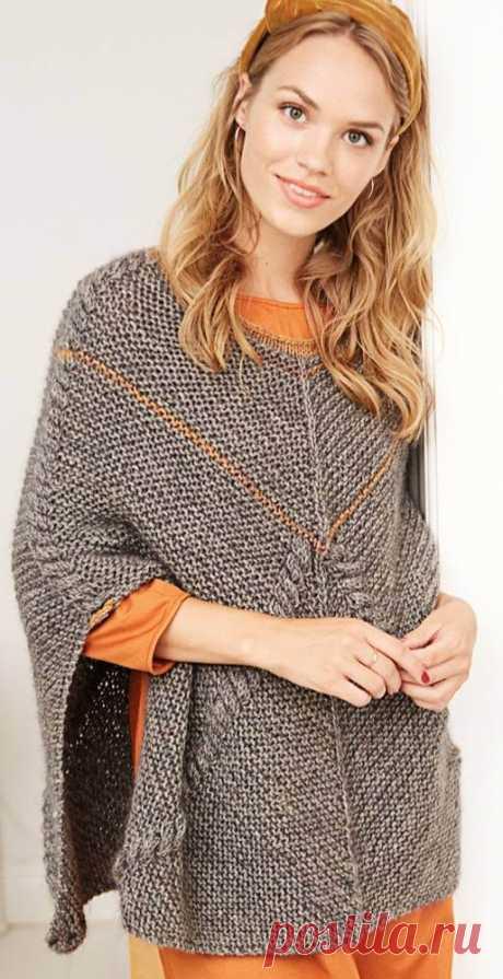 Вязание спицами пончо: подборка пряжи, выбор модели, фото, видео