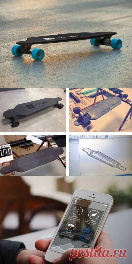 Marbel - cамый лёгкий электрический скейтборд в мире
