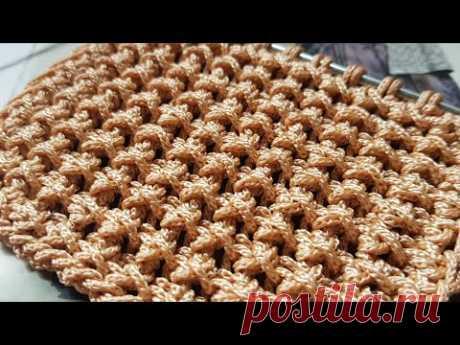 Рельефный узор для вязания сумок, чехлов для телефонов и т. д. 🍂 knitting pattern.