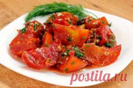 Малосольные острые помидоры по-корейски