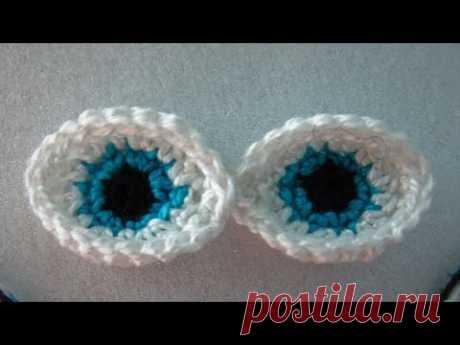 Глазки для амигуруми крючком