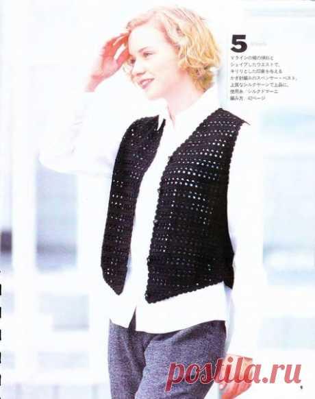 Идея. Чудесный классический жилет  #идея_@crochet_group #жилет