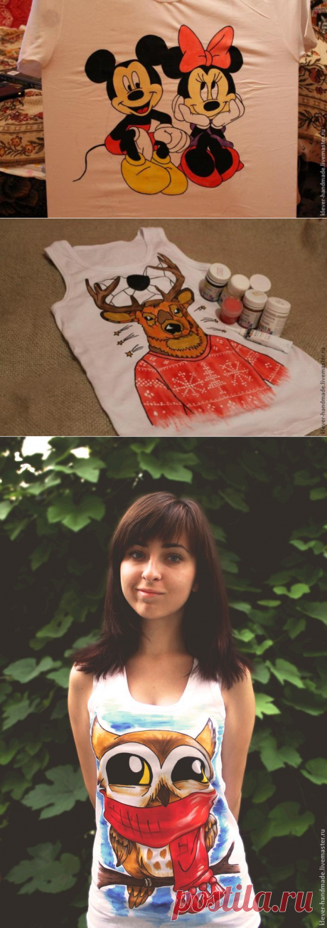 How to make drawing on a t-shirt paints on textiles