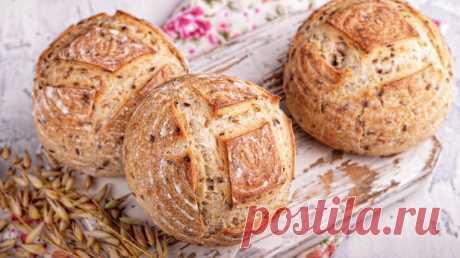 Цельнозерновые булочки на закваске с семенами льна — Изящество кулинарии