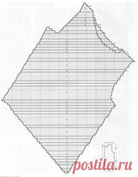 Вязание спицами - Кофточки спицами - Топ спицами в диагональную полоску - Приемы косого вязания