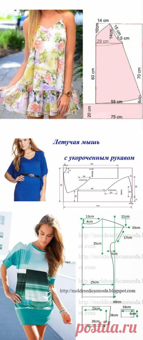 Летние платья с простыми выкройками. Сообщение №2