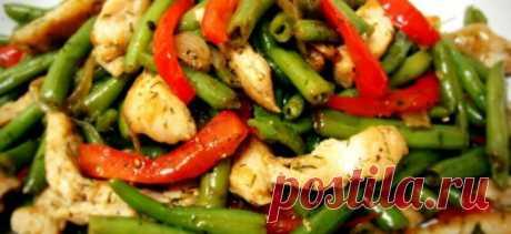 Теплый салат с куриным филе - Советы на каждый день