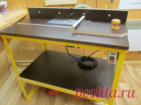 Как сделать простой фрезерный стол своими руками