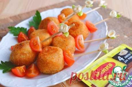 Картофельные шарики с курицей.