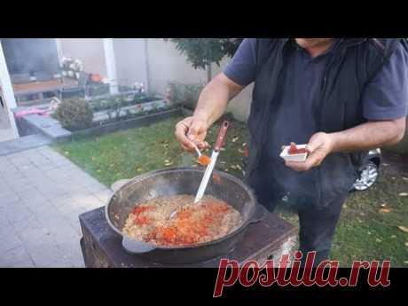 Приготовление баклажановый икры в казане.Рецепт от Жоржа