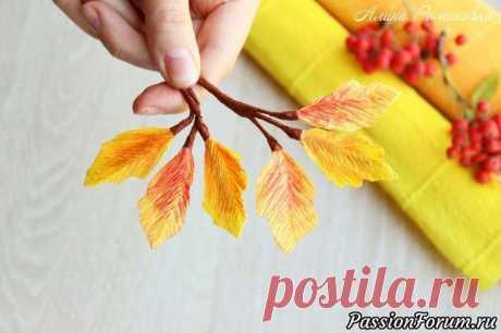 Осенняя веточка листьев из бумаги, очень просто и быстро... Всем привет! А у меня осеннее настроение! Осенняя пора… одно из самых лучших времен года для творчества. Насыщенные краски осени — что может быть прекрасней? Как приятно гулять по красивым аллеям и шу...