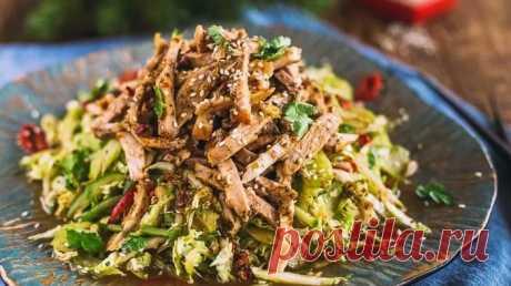 Изысканные рецепты салатов сговяжьим языком Пошаговые рецепты приготовления салатов с говяжьим языком в домашних условиях. А так же информация о том как правильно варить язык