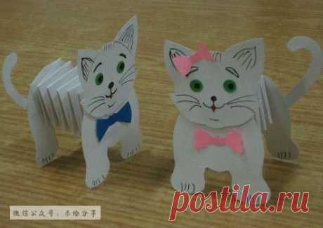 котики из бумаги