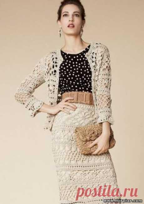 Вязание, Модели со схемами и узорами, Костюм, вязаный крючком от Dolce&Gabbana  https://mirpiar.com/forum/3-7-178