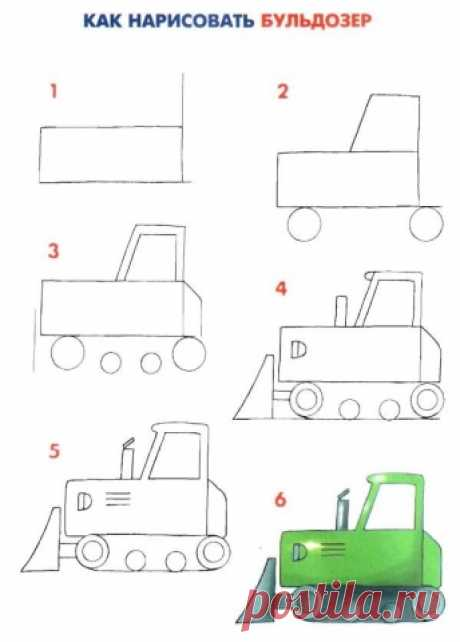 We draw transport - Hand-made articles with children   Detkipodelki